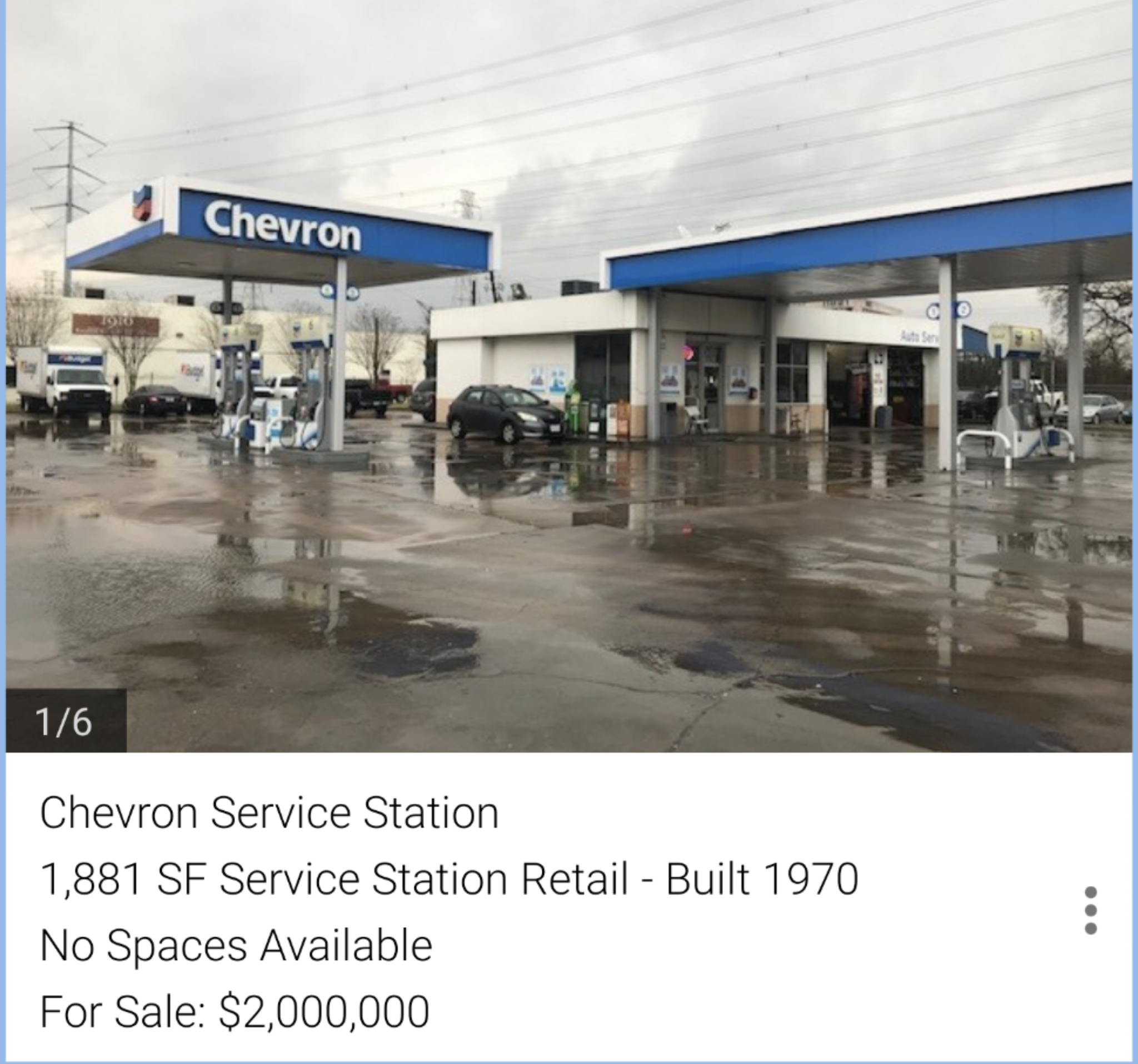 Houston Gas Station Chevron ForSale $2M