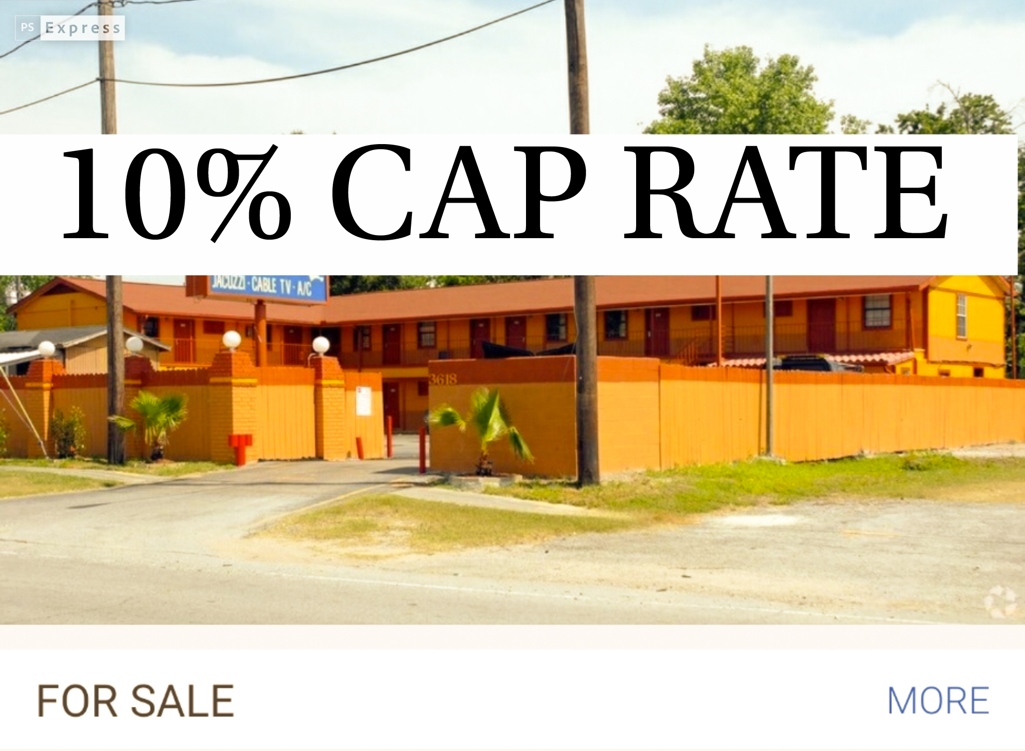 Houston motel 10% cap rate for sale