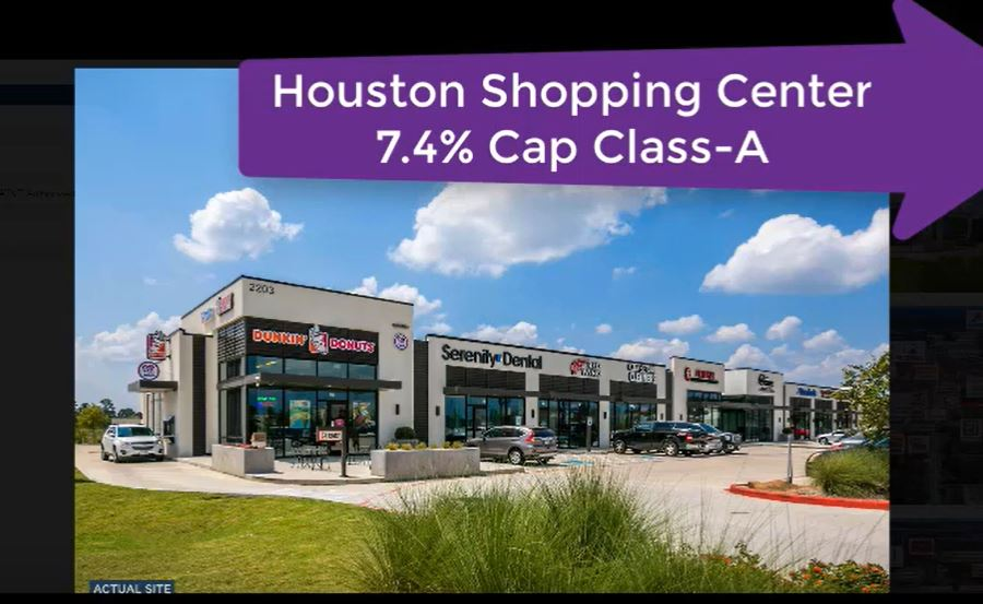 7.4% Cap Rate on Class-A Shopping Center Houston – National Tenants